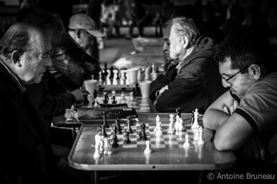 Playing chess is a popular sport at the Plaza de Armas, the heart and soul of Santiago de Chile.
