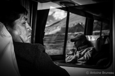 A 10 hour bus ride through the Bolivian Andes.